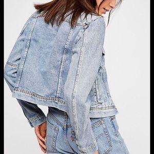 NEW Free People Rumors Denim Jacket